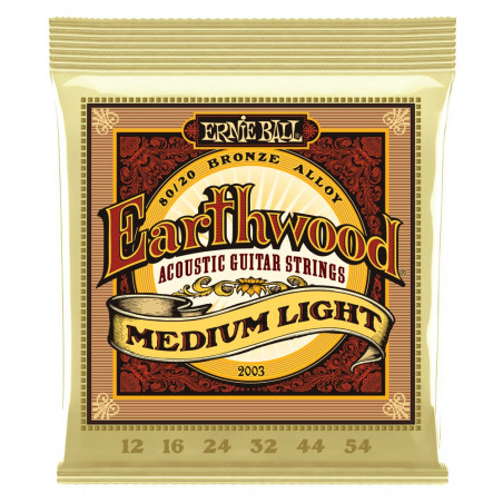 Ernie Ball EARTHWOOD MED/LIGHT 80/20 12-54