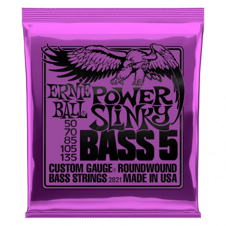 Ernie Ball BASS POWER SLINK 5 STRING 50-135