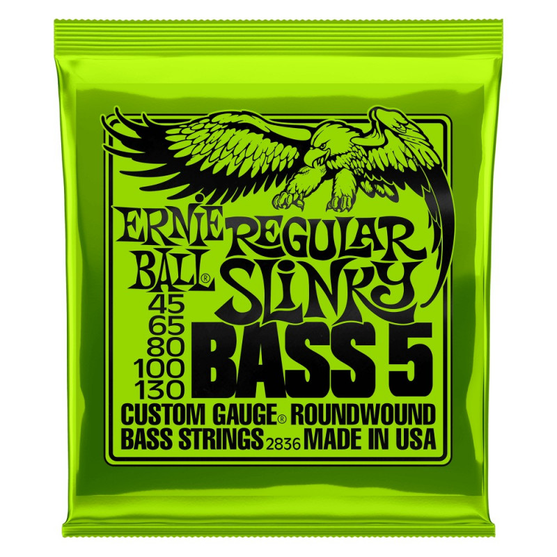 EB BASS 5-STRING REG SLINKY 45-130