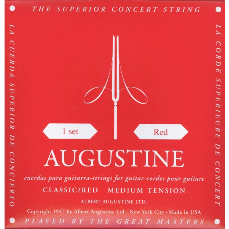 Augustine ARD Medium Tension Red Classical Guitar Strings