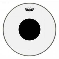 "Batter, CONTROLLED SOUND®, Clear, 14"" Diameter, BLACK DOT™ On Top"
