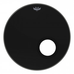 "Bass, AMBASSADOR®, EBONY®, 22"" Diameter, 5"" Black DynamO Installed"