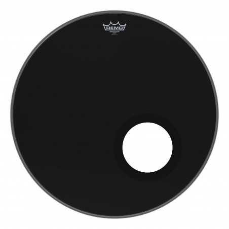 "Bass, AMBASSADOR®, EBONY®, 22"" Diameter, 5"" Black DynamO Installed"