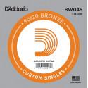 D'Addario BW045 Bronze Wound Acoustic Guitar Single String, .045