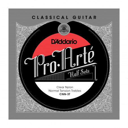 D'Addario CNN-3T Pro-Arte Clear Nylon Classical Guitar Half Set, Normal Tension