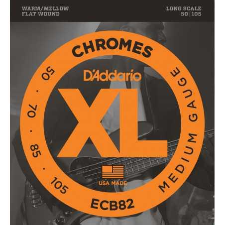 D'Addario ECB82 Chromes Bass Guitar Strings, Medium, 50-105, Long Scale