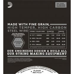 D'Addario ECB84 Chromes Bass Guitar Strings, Custom Light, 40-100, Long Scale