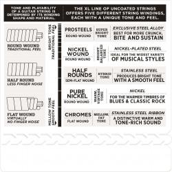 D'Addario ECG26 Chromes Flat Wound Electric Guitar Strings, Medium, 13-56