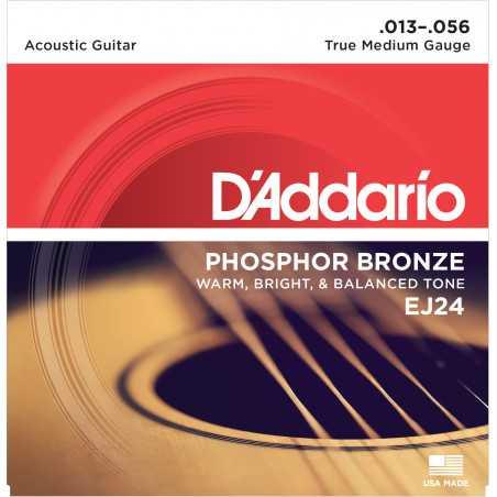 D'Addario EJ24 Phosphor Bronze Acoustic Guitar Strings, True Medium, 13-56