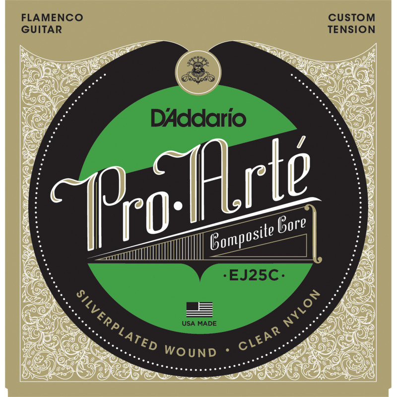 D'Addario EJ25C Pro-Arte Clear Nylon Composite Flamenco Guitar Strings