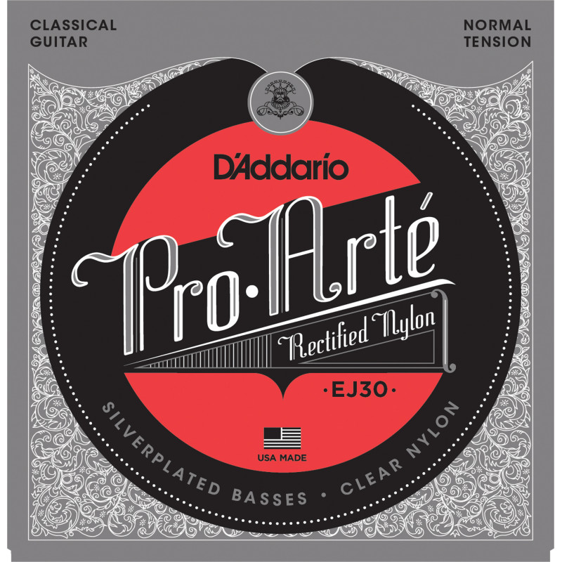 D'Addario EJ30 Classics Rectified Classical Guitar Strings, Normal Tension