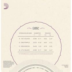 D'Addario EJ65C Pro-Arté Custom Extruded NylonUkulele Strings, Concert
