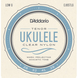 D'Addario EJ65TLGPro-Arté Custom Extruded Nylon Ukulele Strings, Tenor Low-G