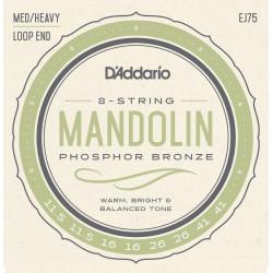 D'Addario EJ75 Mandolin Strings, Phosphor Bronze, Medium/Heavy, 11.5-41
