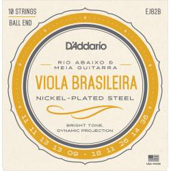 D'Addario EJ82B Viola Brasileira Set, Rio Abaixo and Meia Guitarra