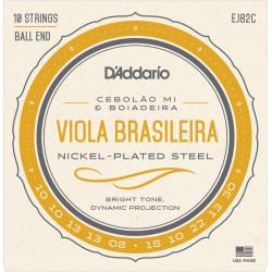 D'Addario EJ82C Viola Brasileira Set, Cebolao Mi and Boiadeira