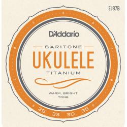 D'Addario EJ87B Titanium Ukulele Strings, Baritone