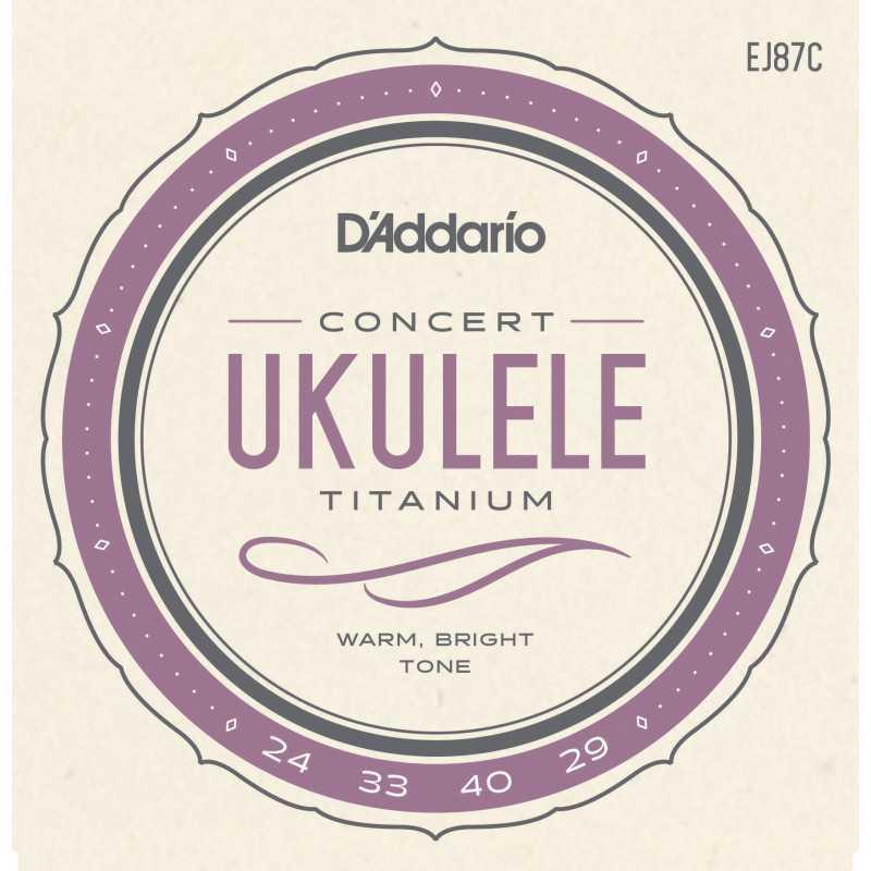 D'Addario EJ87C Titanium Ukulele Strings, Concert