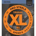 D'Addario EPS160-5 5-String ProSteels Bass Guitar Strings, Medium, 50-135, Long Scale