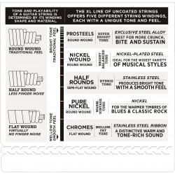 D'Addario EPS170-6SL 6-String ProSteels Bass Guitar Strings, Light, 30-130, Super Long Scale