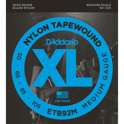 D'Addario ETB92M Tapewound Bass Guitar Strings, Medium, 50-105, Medium Scale