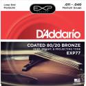 D'Addario EXP77 Coated 80/20 Bronze Mandolin Strings, Medium, 11-40