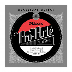 D'Addario HGN-3T Pro-Arte Hybrid Carbon G Classical Guitar Half Set, Normal Tension