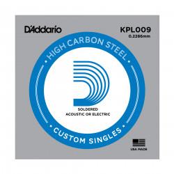 D'Addario KPL009 Soldered Twist Reinforced Single String, .009