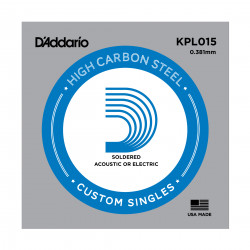 D'Addario KPL015 Soldered Twist Reinforced Single String, .015