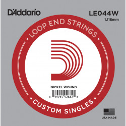 D'Addario LE044W Nickel Wound Loop End Single String, .044