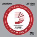 D'Addario LE092PB Phosphor Bronze Loop End Single String, .092
