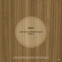 D'Addario NB034 Nickel Bronze Wound Acoustic Guitar Single String, .034