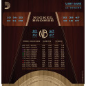 D'Addario NB1047-12 Nickel Bronze Acoustic Guitar Strings, Light 12-String, 10-47