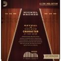 D'Addario NB1253 Nickel Bronze Acoustic Guitar Strings, Light Top / Med Bottom, 12-56