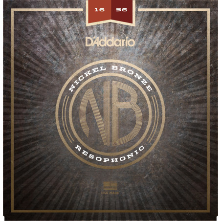 D'Addario NB1656 Nickel Bronze Acoustic Guitar Strings, Resophonic, 16-56