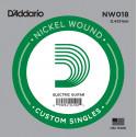 D'Addario NW018 Nickel Wound Electric Guitar Single String, .018