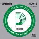 D'Addario NW019 Nickel Wound Electric Guitar Single String, .019