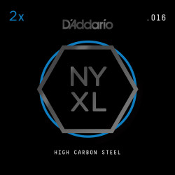 D'Addario NYXL 2-Pack Plain Steel Guitar Strings, .016