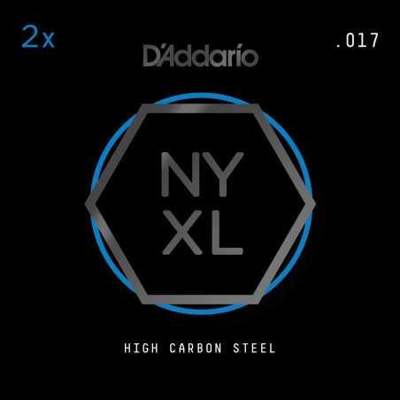 D'Addario NYXL 2-Pack Plain Steel Guitar Strings, .017