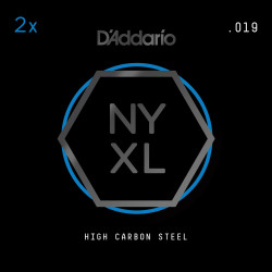 D'Addario NYXL 2-Pack Plain Steel Guitar Strings, .019