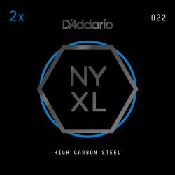 D'Addario NYXL 2-Pack Plain Steel Guitar Strings, .022