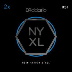 D'Addario NYXL 2-Pack Plain Steel Guitar Strings, .024