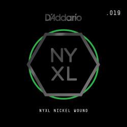 D'Addario NYXL Nickel Wound Electric Guitar Single String, .019