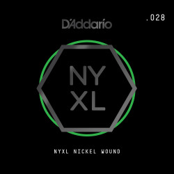 D'Addario NYXL Nickel Wound Electric Guitar Single String, .028