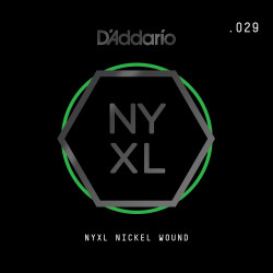 D'Addario NYXL Nickel Wound Electric Guitar Single String, .029