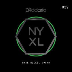 D'Addario NYXL Nickel Wound Electric Guitar Single String, .029
