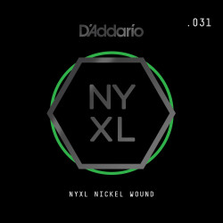D'Addario NYXL Nickel Wound Electric Guitar Single String, .031