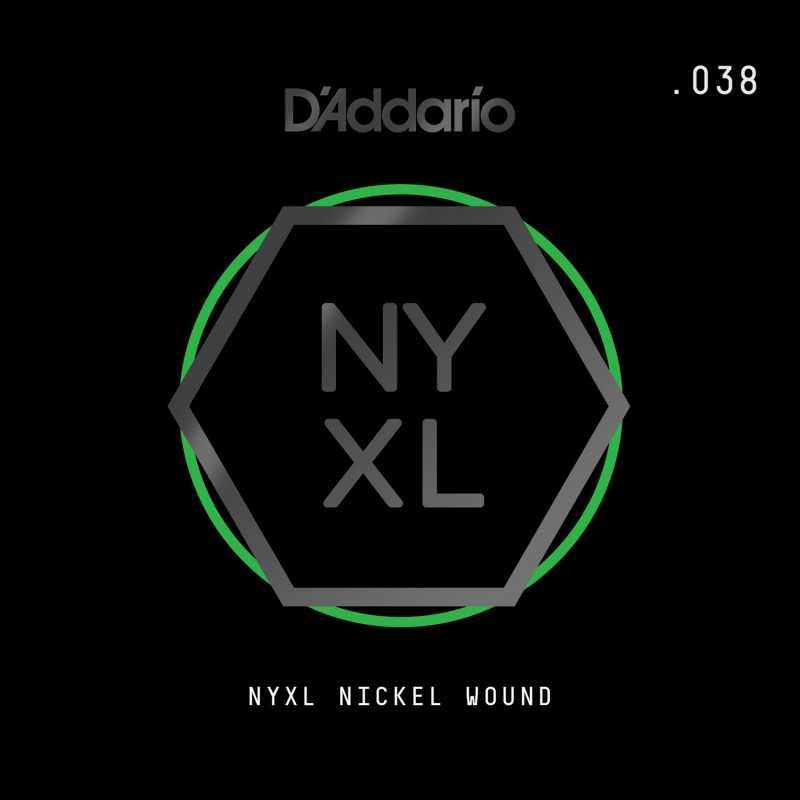 D'Addario NYXL Nickel Wound Electric Guitar Single String, .038