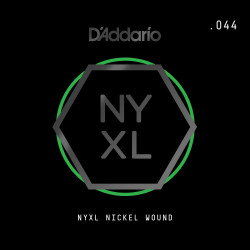 D'Addario NYXL Nickel Wound Electric Guitar Single String, .044