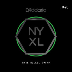 D'Addario NYXL Nickel Wound Electric Guitar Single String, .046